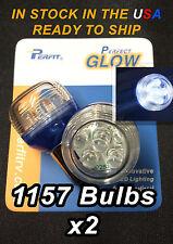 2 NEW 1157 T25 BAY15D High Power WHITE LED Car Brake Stop Tail Light Bulbs Lamps