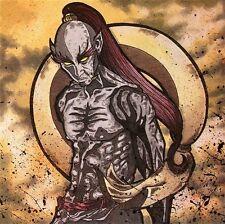 Gothic Japanese God of Wind Fujin FANTASY ART ebsq 8x8