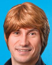 Short Brown Mens Wig Austin Powers 80s Pop Star Boy Band Fancy Dress