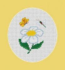 Marguerite, papillon et libellule point de croix kit - Luca S -débutant