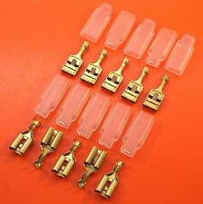 """10 x 9.5 mm (3/8 """") femmina in ottone Spade Terminal & Maniche"""