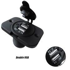 12V Dual USB Car Charger Car Power Socket Outlet Plug Charging Panel Mount