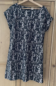 La Redoute Womens Dress Nude Black Lace Effect Stretch Pockets A Line Shape 16