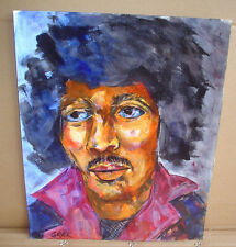 Jimmy Hendrix Painting Acrylic On Canvas Paper (Great For Framing) Original
