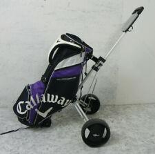 Carrello a 3 ruote richiudibile + Sacca Porta Mazze da golf CALLAWAY Viola per