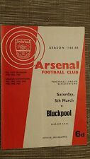 1965/66 Football League: ARSENAL v BLACKPOOL - 5th March