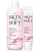 AVON Skin So Soft Soft & Sensual Body Lotion & Hand Cream 2 Piece Set.