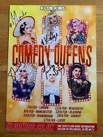 Rupaul's Drag Race Comedy 6 Queens Signed Tour Poster Manila Katya Nina Baga
