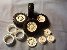 Rubber Tractor Tires-Tall with Wheels and Wheel Backs #4 1/24 1/25 scale