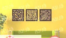 Wall art decor tree leaves made of wood 1set/3pcs