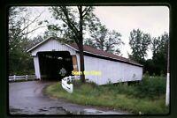 Covered Bridge in Montgomery County, Indiana in 1968, Original Slide aa 3-15b