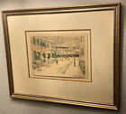Maurice Utrillo Rare Original Color Lithograph Pencil Signed & Numbered 1 Of 2