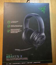 Razer Kraken X Wired Gaming Headset 7.1 Surround Sound Headphones Black New