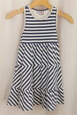 MISS B BUSY BEES Girls Size 6X Dress Blue & White Stripes