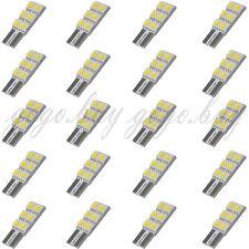 20 x T10 194 168 W5W 6 5050-SMD LED Wedge Turn Tail Car Light Bulbs Ultra White