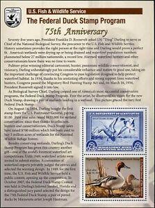 RW75C 2008 Migratory Oiseau 75th Anniversaire Mini Feuille Nh Solde