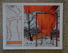 Christo and Jeanne Claude The Gates offset  36,5 x 28,5 cm hand signed =
