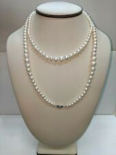 "Imperial Pearls Cultured Freshwater Pearl Sterling Silver Graduated 38"" Necklace"