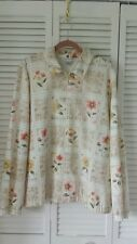 Alfred Dunner size 18 or 2X zipper front jacket/top neutral w/ floral pattern