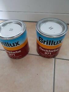 brillux Deckfarbe 871 weiß 0095 2 dosen 750 ml