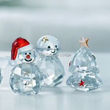 Swarovski Christmas Rocking Snowman, Angel, Tree - All 3!