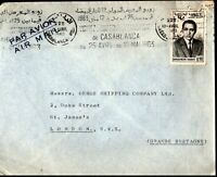 Morocco 1963 Airmail King Hassan II Casablanca Slogan HS to London