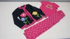 Gymboree Showers of Flowers Pink Shirt Blue Sweater Polka Dot Pants 5-6 EUC TL38