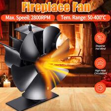 6-Blatt Heizlüfter Stromloser Kaminofen Ventilator Ofenventilator Stove Fan Holz