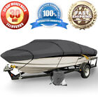 Heavy Duty Trailerable Boat Mooring Cover 17' 18' 19' ft Gray Storage Covers