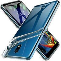 Coque Pour LG K40 Étui Transparent Slim Silicone TPU + Verre Trempé