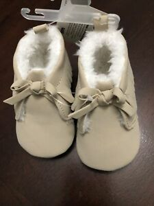 Child of Mine Carter's Moccasins  size 0-3 mos.