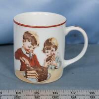Hershey Foods Cup Mug Cover of 1934 Chocolate Cookbook Boy Girl Cake 1980 dq