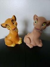"""Disney Lion King Simba And Nala 5"""" Plastic Squeak Toys"""