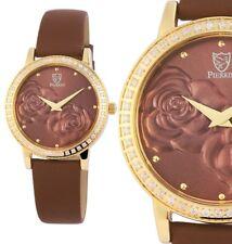Damen Armbanduhr Braun/Gelbgold/Braun Crystalbesatz 192207000001 von PIERRINI