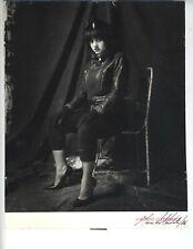1986 VINTAGE LYDIA LUNCH PUNK MARCUS LEATHERDALE SIGNED PHOTO SPOKEN WORD LEGEND