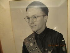 1952 Framed Photo Eagle Scout Donald Don Hickman of Fort Sill OK in Uniform BSA