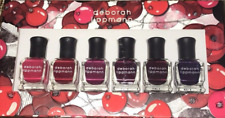 Deborah Lippmann Very Berry Shades Of Berry .27 Oz 6 Bottles New In Box