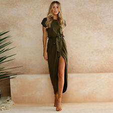 Womens Summer Holiday Long Maxi Dress Ladies Evening Party Sun Dresses Plus 6-16