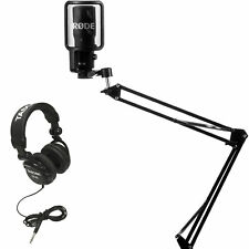 Rode NT-USB Condensor Microphone with Knox Mic Boom Arm Stand and Pop Filter