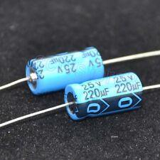 Audio Quality  NOS 10 x Philips axiale Kondensatoren 220µF 220uF//16V