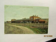 Vintage Michigan Central RR Depot Jackson, Mich Postcard Made by SL & Co