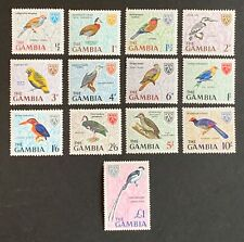 Gambia. Pictorial Birds Stamp Set. SG233/45. 1966. MNH. (E12)