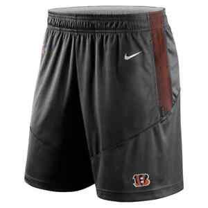 Brand New 2021 NFL Cincinnati Bengals Nike Sideline Performance Knit Shorts NWT
