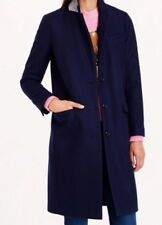 NWT JCREW $325 Wool Melton Topcoat Size16 B3906 Navy Color SOLDOUT
