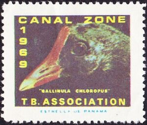 Canal Zone - 1969 - Tuberculosis Association Seal - Bird Topical Mint F-VF Nice