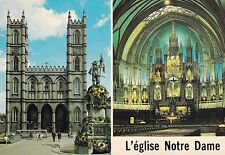 Notre Dame church Montreal Canada Postcard Unused VGC