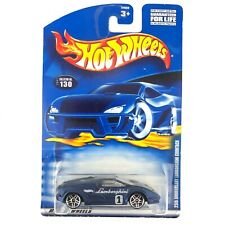 Hot Wheels 25th Anniversary Lamborghini Countach Car Blue Die Cast 1/64 Scale