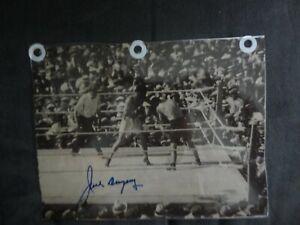 Jack Dempsey signed 7x6 photo w/COA Boxer