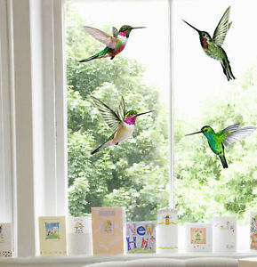 Hummingbird Double-Sided Static Cling Window Stickers