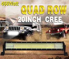 20 inch 468W 4 row 12D LED light bar for off road, car, truck, semi, spot/flood